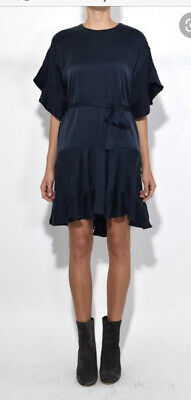 AU85 • Buy Zimmermann Navy Silk Flounce Dress Size 0