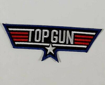 £2.19 • Buy Top Gun-WING Embroidered Iron Sew On Patch Fancy Dress Jacket T Shirt Badge-Logo