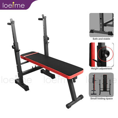 Loefme Folding Weight Bench Workout Exercise Benches Home Gym Lifting Fitness • 129.99£