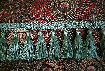 Jones Interiors Trim Monaco Tassel Fringe 8.5 Cm Green Blue Turquoise - Curtain  • 3.50£