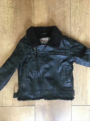 Girls Baby Toddler Leather Look Jacket Age 9-12months From Next • 3£
