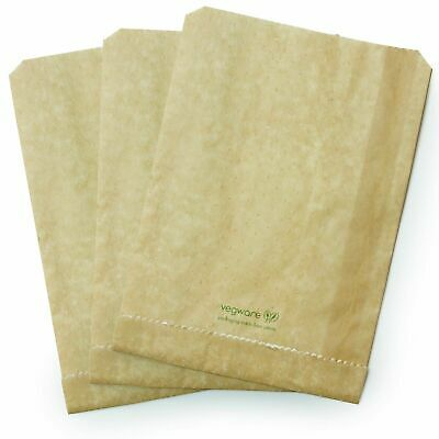 Vegware Therma Hot Panini Grill Toast Paper Pouch Bags ( 9  ) ( Box Of 500) • 39.95£