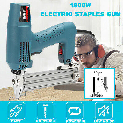 Electric Staple Gun Straight Nail Special Use 45/min Woodworking Too • 40.10£
