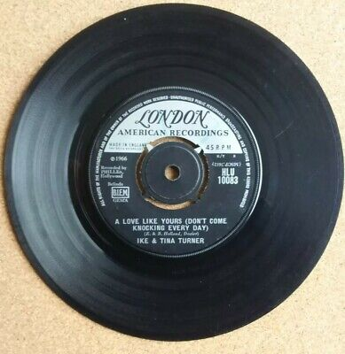 IKE AND TINA TURNER,  A LOVE LIKE YOURS,  LONDON RECORDS, 7  Single 1966 VG • 2.69£