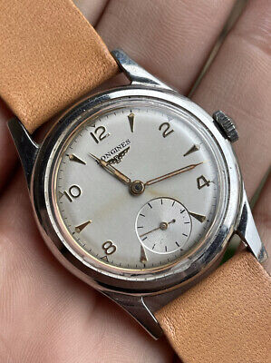 $ CDN138.56 • Buy Orologio Watch Longines 6 Notches Cal.27M Steel Case Vintage Swiss Made