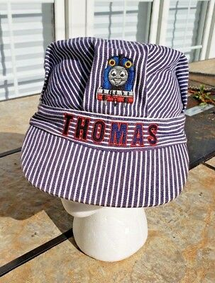 £6.10 • Buy Youth THOMAS The Tank Engine TRAIN Pin Striped Conductor Engineer Hat Cap