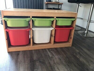Ikea Trofast Storage Unit With 6 Boxes - Great Condition. Perfect For Playroom • 15£