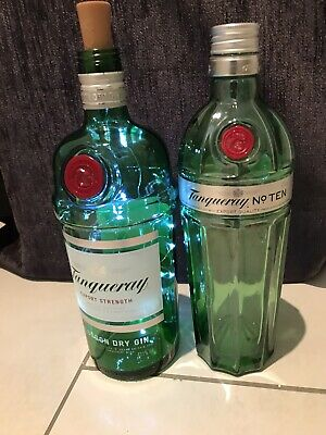 Empty Tanqueray No 10 Gin Bottle And Normal Tanqueray Bottle • 3.99£
