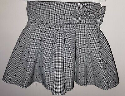 Girls Lined Polka Dot Skirt With Bow Accent 18-24 Months. Funky & Quirky  • 1.49£