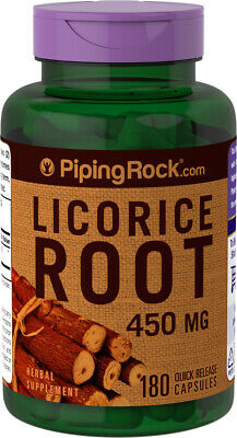 Piping Rock Licorice Root, 450 Mg, 180 Quick Release Capsules (free Ship) • 8.59£