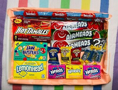 £5.99 • Buy American Sweet Gift Box USA Imported Candy Hamper FREE First Class Delivery