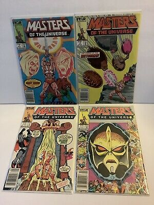 $24 • Buy Masters Of The Universe #1-4 Comic Book Lot (1986 Marvel Star) He-Man