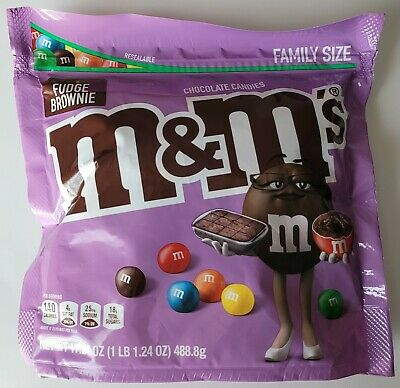 $14.99 • Buy New Fudge Brownie M&m's 17.24 Oz Family Size Bag Chocolate Candies Free Shipping