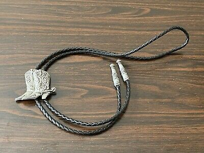 Pewter Boot Bolo (string Tie) With 18  Black Cord • 15.88£