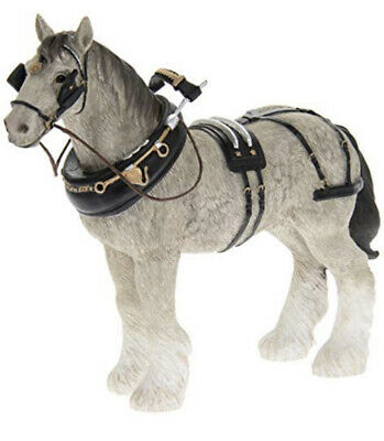 Shire Horse Grey Figurine By Lesser & Pavey 9.8 X 23.2 X 20 • 19.99£