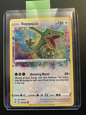 AU6.50 • Buy Rayquaza 138/185 Vivid Voltage Amazing Rare Pokemon TCG Card Mint