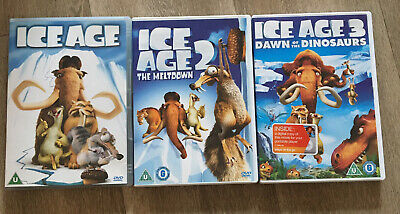 Ice Age 1 2 & 3 DVD Bundle • 1.50£
