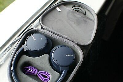 Sony WH-CH700N Over The Ear Bluetooth Headphones - Blue In Black Case • 64£