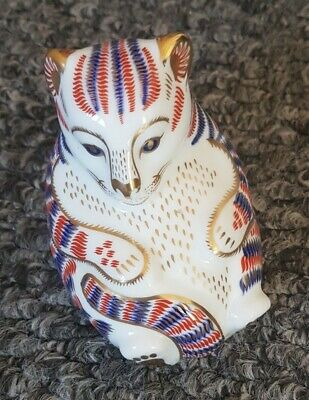 Royal Crown Derby Tiger Cub Imari Retired Paperweight Excellent Condition '2nd' • 6£
