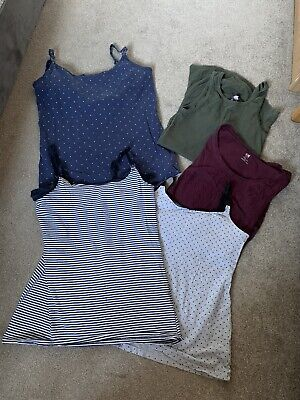 Maternity X5 Tops UK Size 10/12 Bundle H&M Used Condition • 3£