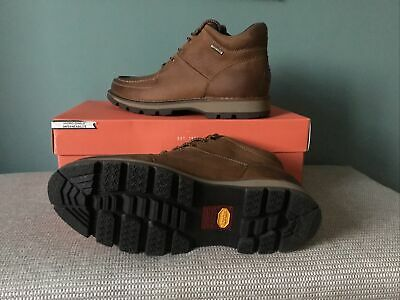 ROCKPORT Umbwe Leather Waterproof Chukka Mens Boots Size 9 UK (EURO 43 BROWN  • 82.99£