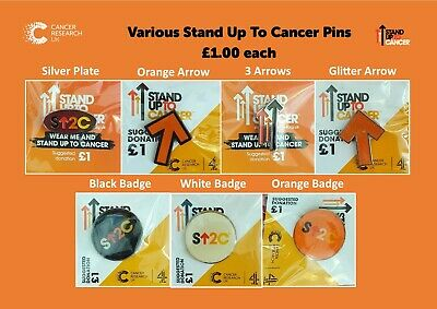 £1 • Buy Cancer Research - Various Stand Up To Cancer Pins £1 Each / All For £6.50