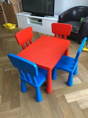 Ikea Mammut Kids Table & Chair Set.  Used But Still In Great Condition.   • 5£