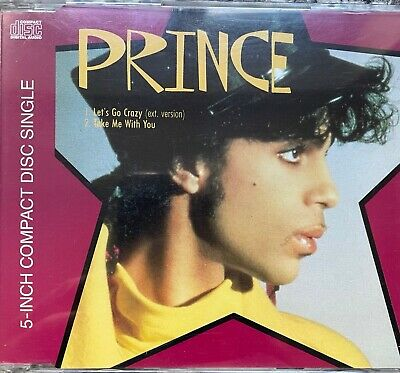 Prince - Let's Go Crazy (ext. Version) / Take Me With You (CD Single) • 3.99£