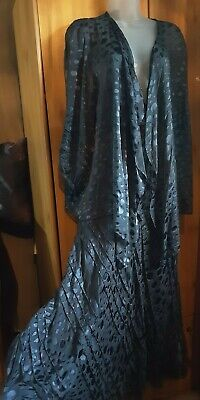 Chesca Pretty Slate Grey Silk Flare Floaty Maxi Skirt Jacket Size 18 Occasion  • 37.99£