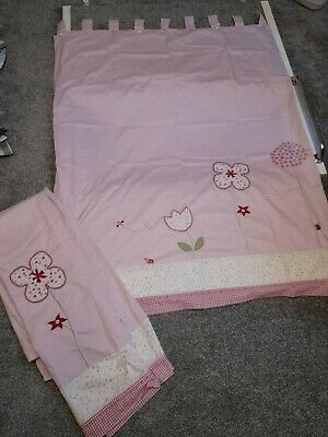 Girls Next Bedroom Tab Top Lined Curtains 120cm X 160cm • 2.40£