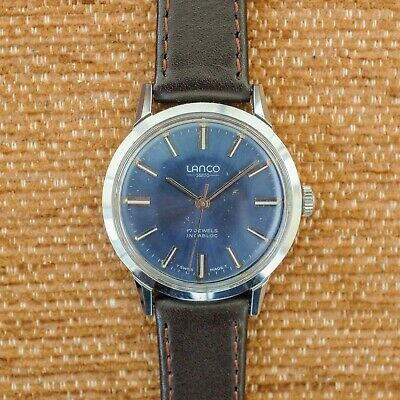Men's Vintage Lanco Watch - Cleaned, Oiled And Regulated • 0.99£