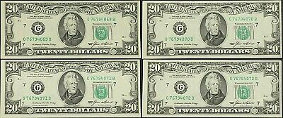 $128 • Buy Sequential  $20.00 DOLLAR BILLS MINT CONDITION 1985 Lot 0f (4) Item 600  Vintage