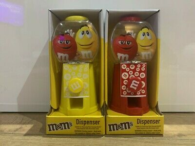 M&M's Candy Dispenser RED/YELLOW Sweet Plain Chocolate Brand New Gift Pack • 9.20£