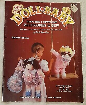AU12.89 • Buy Original Doll Baby Sleepy-Time Travel Accessories To Sew Clothes Patterns 18  ++