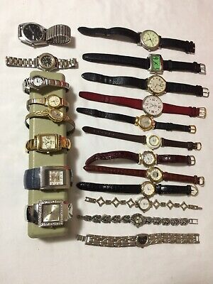 $ CDN80 • Buy Lot Of 20 Ladies And Men's Battery Operated Watches.  All Working