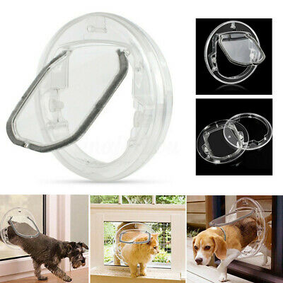 £23.58 • Buy 4 Way Round Clear Locking Flap Pet Door Cat Small Dog For Screen Glass  UK D3