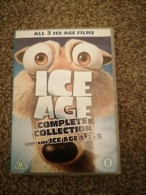 Ice Age 1-3 Collection (DVD, 2009, 3-Disc Set, Box Set) • 1.50£