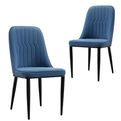 AU323.95 • Buy Stan Navy Elegant Classic Design Dining Chair Set Of 2