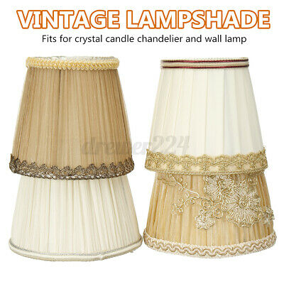 Vintage Lace Lamp Shades Fabric Pendant Chandelier Wall Light Covers Hom • 9.38£