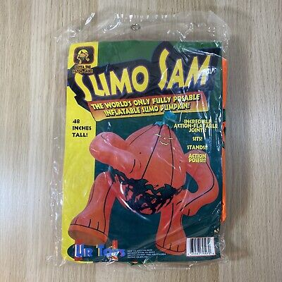 $ CDN55.63 • Buy Sumo Sam Inflatable Poseable Pumpkin Halloween Decoration 48 Inches Tall SEALED