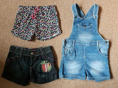Girls Shorts And Short Denim Dungarees. Age 2-3 Years • 3.50£