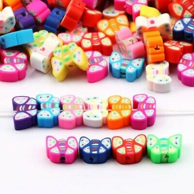 £3.19 • Buy Polymer Clay Beads Butterfly Shape 20 Pcs Mix Colour 10mm DIY Jewellery Making