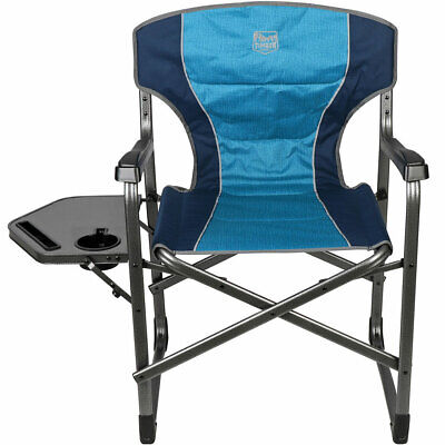 £52.95 • Buy Leightweight Sturdy Folding Outdoor Camping / Director's Chair With Side Table