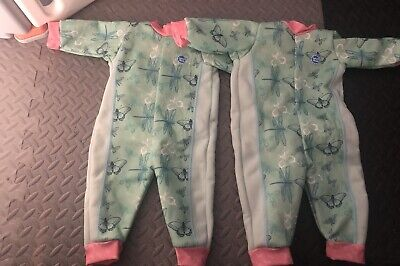 Twin Girl Splash About Warm In One Suits Size Small  • 4£