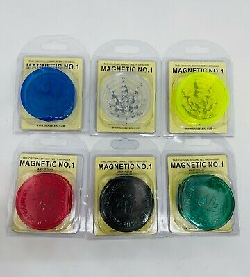 £1.99 • Buy No 1 Number One Acrylic Grinder 3 Part Magnetic Shark Teeth CHOOSE COLOUR!!