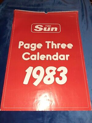 £6 • Buy Vintage The Sun Page Three Glamour Calendar 1983. Condition Is Preowned.