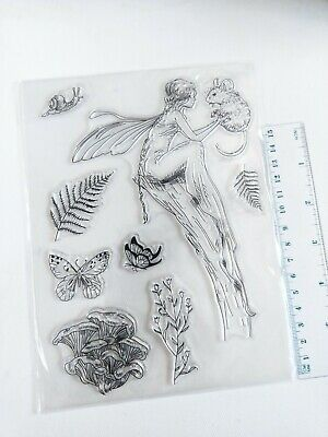 Clear Large Silicone Stamps Craft Mixed Media Scrapbooking Card Making • 4.50£