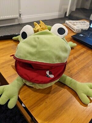 Ikea Frog Prince Cuddly Toy. Good Condition ~16 Inches • 1£