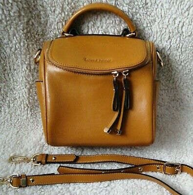 NEW Smith & Canova Tan Leather Shoulder Top Handle Bag & Long Detachable Strap • 24.99£