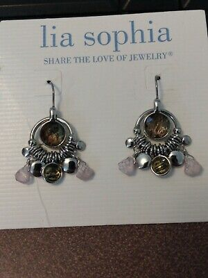 $ CDN7.56 • Buy Lia Sophia Silver Dangle Earrings With Abalone Shell And Beads, Opulent